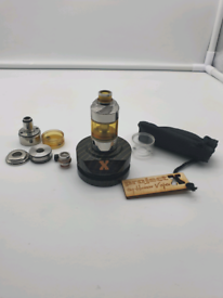 Hussar Vapes Project X RTA Vape, with complete set of extras