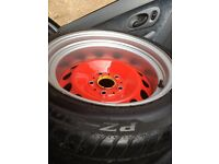 4 x 120 x 5 banded steel wheels
