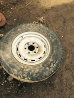 Spare six hole wheel