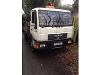 Man LE8.180 7.5 ton lorry no mot starts first time viewing a must tipper lorry