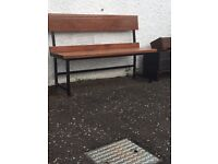 Benches Solid reclaimed mahogany