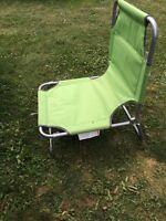 Beach chairs.