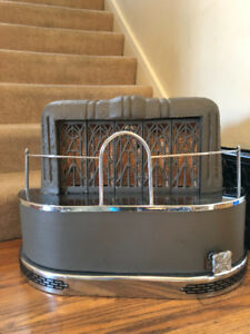 Antique Gas-Ray fireplace insert