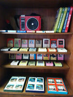 8-Track Collection with Vintage Player - Over 60 Tapes!
