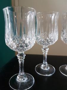 Cristal d'Arques Longchamp Wine Glasses