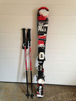 Child's Skis and Poles
