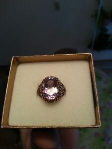 Sterling Silver Rose de France Ring - size 10