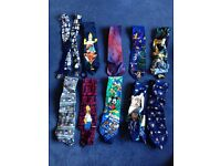 A selection of ties and suspenders