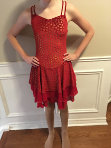 Figure Skating Dress- Adult small - Red