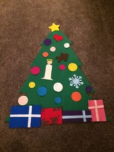 Giant felt Christmas tree puzzle