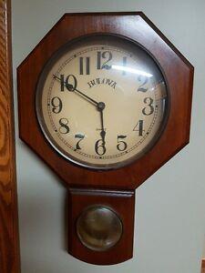 School house clock.( approx. 21 in X 14 in )