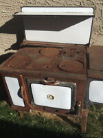 Antique white wood burning stove - need to go asap!