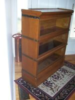 Antique stacking bookcase, barristers bookcase