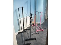 Selection of clothes rails