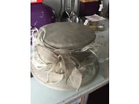 Silver grey wedding hat and fascinator