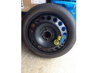 Vauxhall Zafira space saver spare wheel