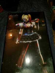 Selling 3 Framed DC Harley Quinn Posters