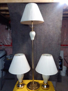 Matching Table & Floor Lamps