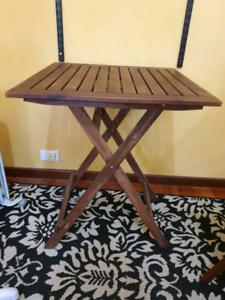 Folding table & chair