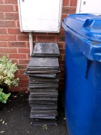 Slate cement tiles