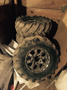 "36"" mud/ tractor tire on 17"" rims"