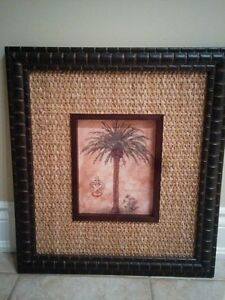 2 Palm Tree Framed Pictures Oakville / Halton Region Toronto (GTA) image 1