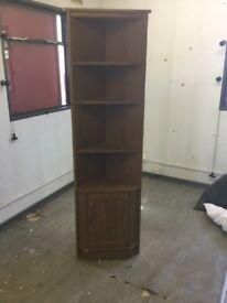 Corner unit display cupboard
