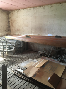 NO LONGER AVAILABLE Vintage wooden rowing boats - quads