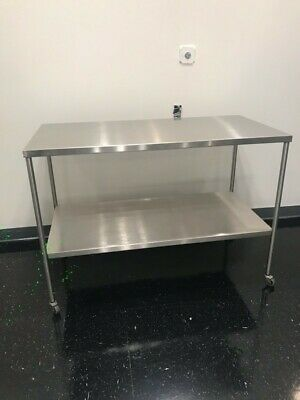 Stainless Steel Instrument Table With Shelf 36l X 20w X 34h Pick Up Only