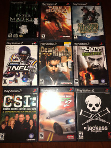 9 Different PlayStation 2 Video Games