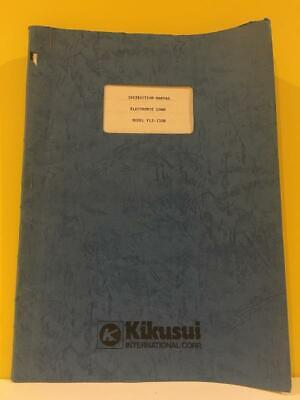 Kikusui Z1707220 Electronic Load Model Plz--150w Instruction Manual