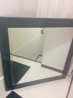 Large mirror with black border
