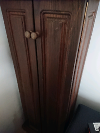 Wooden Dvd storage cupboard cabinet with 20 free dvds