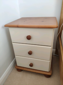 Bed side table wood white pine (2 available)