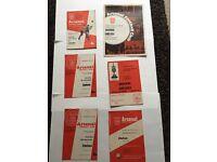 Arsenal programmes x6 1960s1970