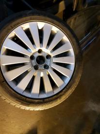 Set of 4 Genine Vw passat B6 17 macau highline alloy wheels rim with tyre