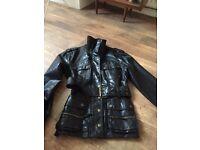 Ladies biker style jacket.