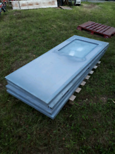 Double 36 inch steel doors and casings for sale