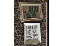 Shabby chic painted pine photo frames notice board projects