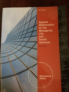 Applied mathematics for the managerial, life, & social sciences