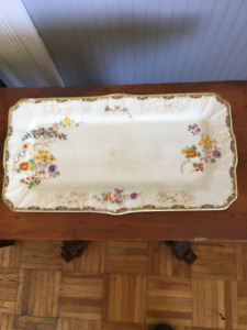 Antique bread plate