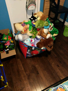 A giant pile of stuffed animals