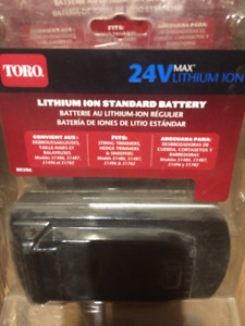 Brand New Toro 24v Max lithium ion Battery, Fits string trimmers