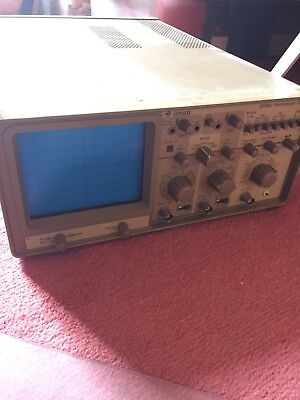 Gould Oscilloscope OS300 20MHz Dual Channel With Front Cover And Instructions