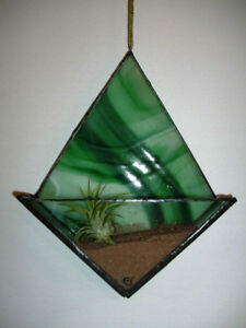 Stained glass air plant holder (Tillandsia)