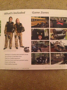 PAINT BALL ACTION PACK TICKETS Kitchener / Waterloo Kitchener Area image 4