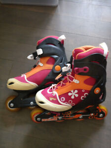 Children Rollerblades (Kids size 4-6) with protective pads