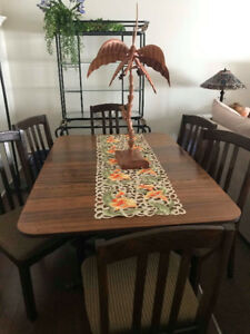Large dining table and chairs (excellent condition)