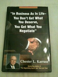 In Business a in Life - you don't get what you deserve, you...
