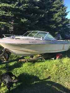 16.5 foot Invader Speed Boat with 90HP Mercury outboard motor